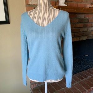 Theory Adrianna RL Feather Cashmere Blue Sweater S